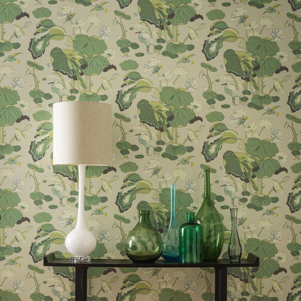 Nympheus Wallpaper - Botanical - by G P & J Baker