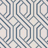 G P & J Baker Parterre Indigo Wallpaper - Product code: BW45081/2