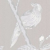 G P & J Baker Peony & Blossom Soft grey Wallpaper - Product code: BW45066/7