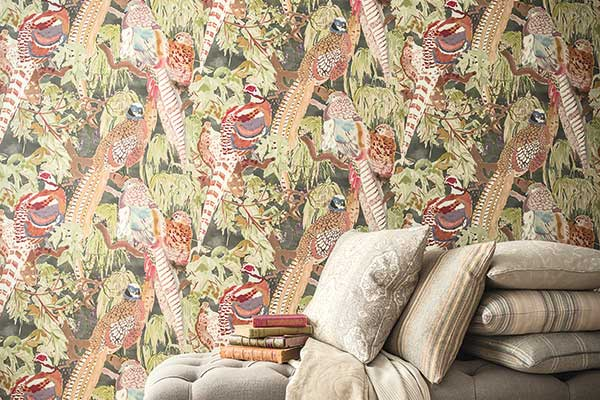 Mulberry Home Game Birds Multi Wallpaper