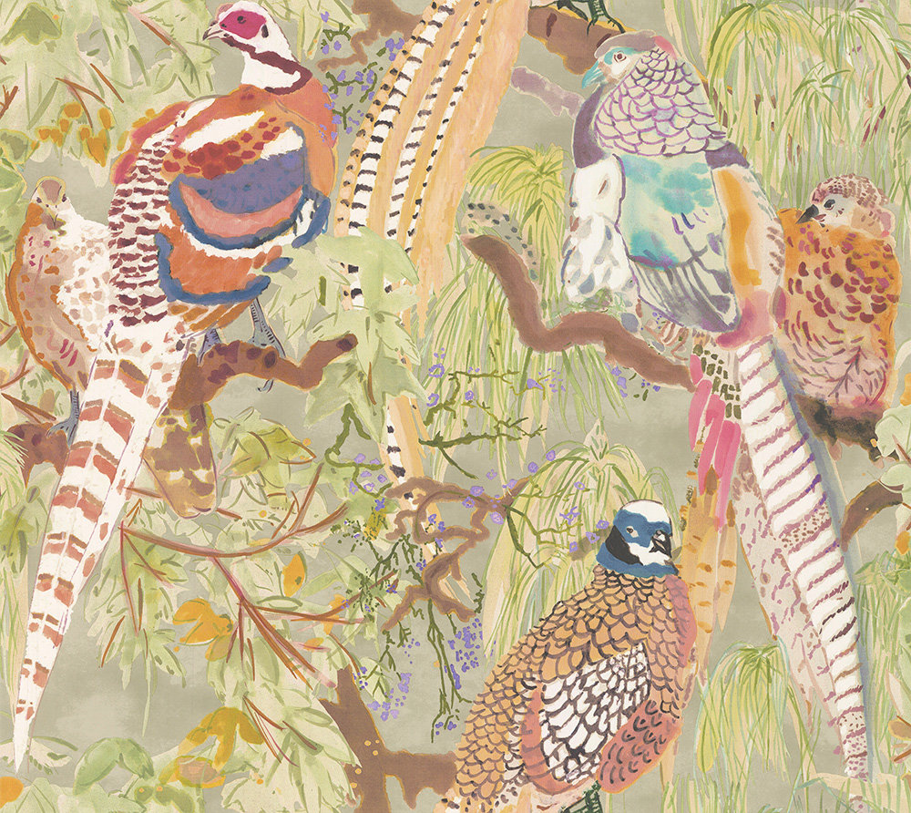 Mulberry Home Game Birds Multi Wallpaper - Product code: FG085Y101