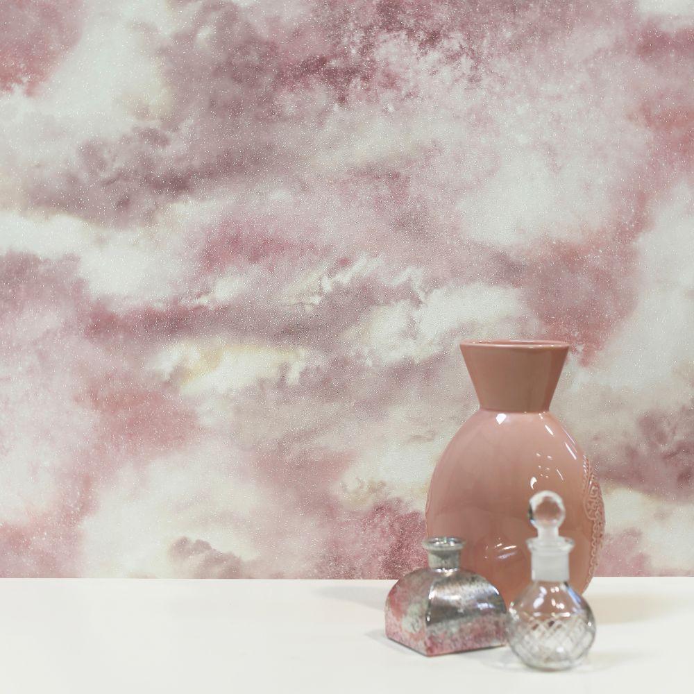 Diamond Galaxy Wallpaper - Blush - by Arthouse