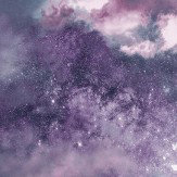 Arthouse Diamond Galaxy Deep Purple Wallpaper