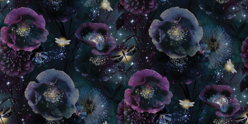 arthouse nocturnal purple & teal