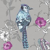 Arthouse Paradise Garden Silver Wallpaper