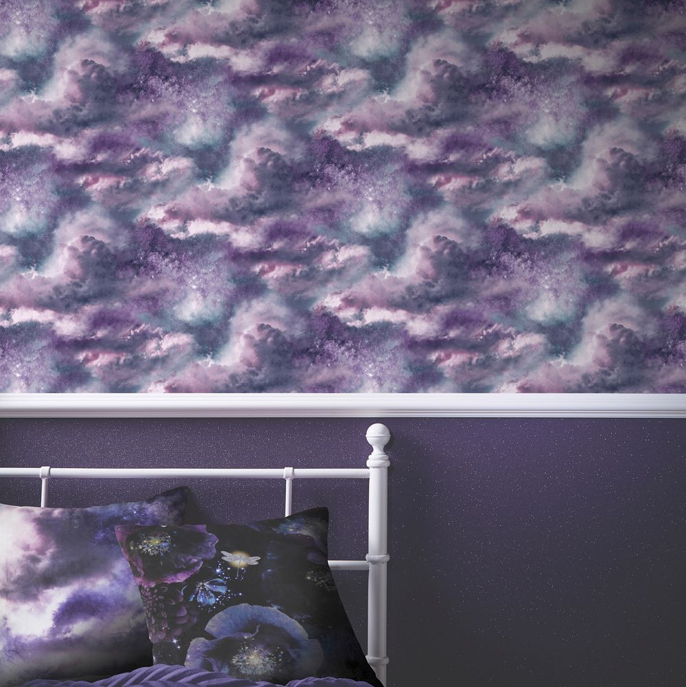 Diamond Galaxy Cushion - Purple - by Arthouse