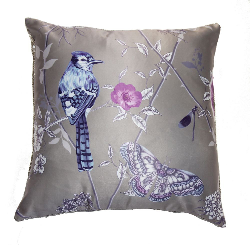 Birds of Paradise Cushion - Gold - by Arthouse