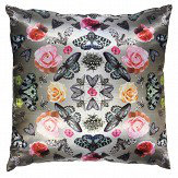 Arthouse Floral Bugs Cushion Silver