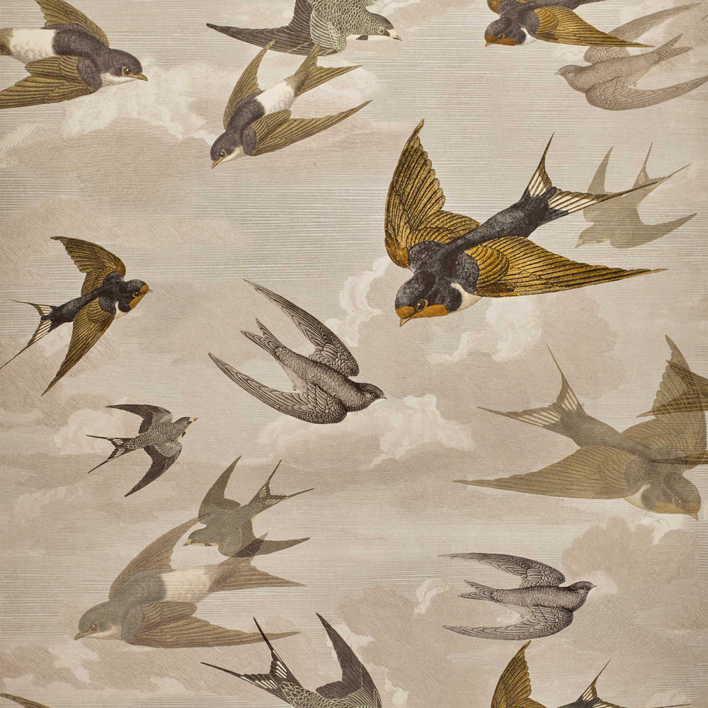 Designers Guild Chimney Swallows Sepia Wallpaper - Product code: PJD6003/03