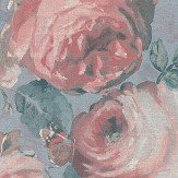 Albany Barbara Floral Pale Blue and Pink Wallpaper