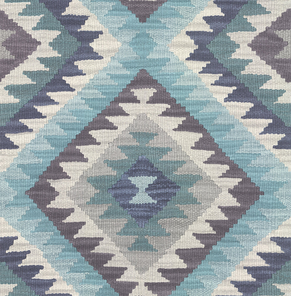 Albany Aztec Diamond Blue Wallpaper - Product code: 527452