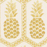 Albany Tropical Pineapple Ochre / Off White Wallpaper - Product code: 862102