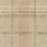 Mulberry Home Shetland Plaid Sand Wallpaper