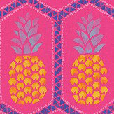 Albany Tropical Pineapple Pink Wallpaper