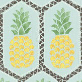 Albany Tropical Pineapple Aqua Wallpaper