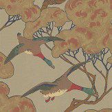 Mulberry Home Flying Ducks Moss Wallpaper