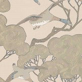 Mulberry Home Flying Ducks Taupe Wallpaper