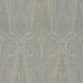 Mulberry Home Troika Paisley Slate Blue Wallpaper