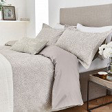 Morris Pure Strawberry Thief Double Duvet Cover Pebble