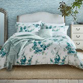 Sanderson Delphiniums Double Duvet Cover Mint
