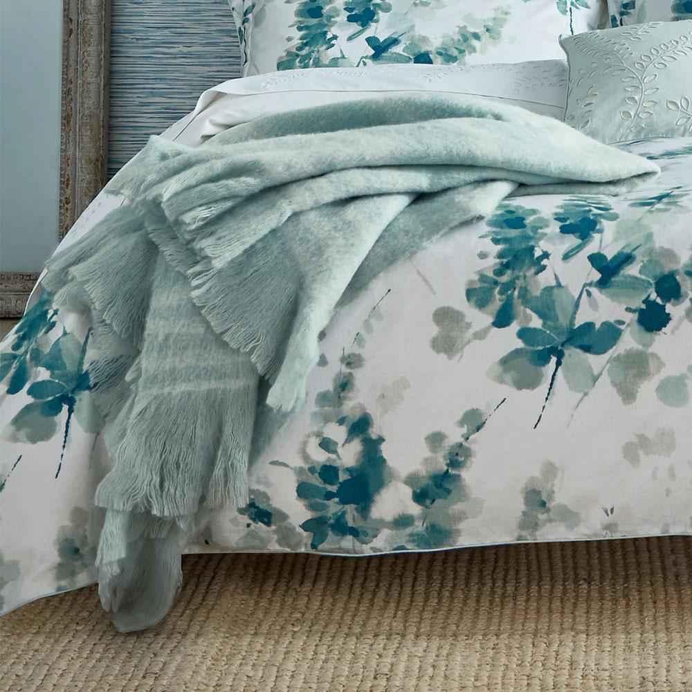 Sanderson Delphiniums Blanket Mint Throw extra image