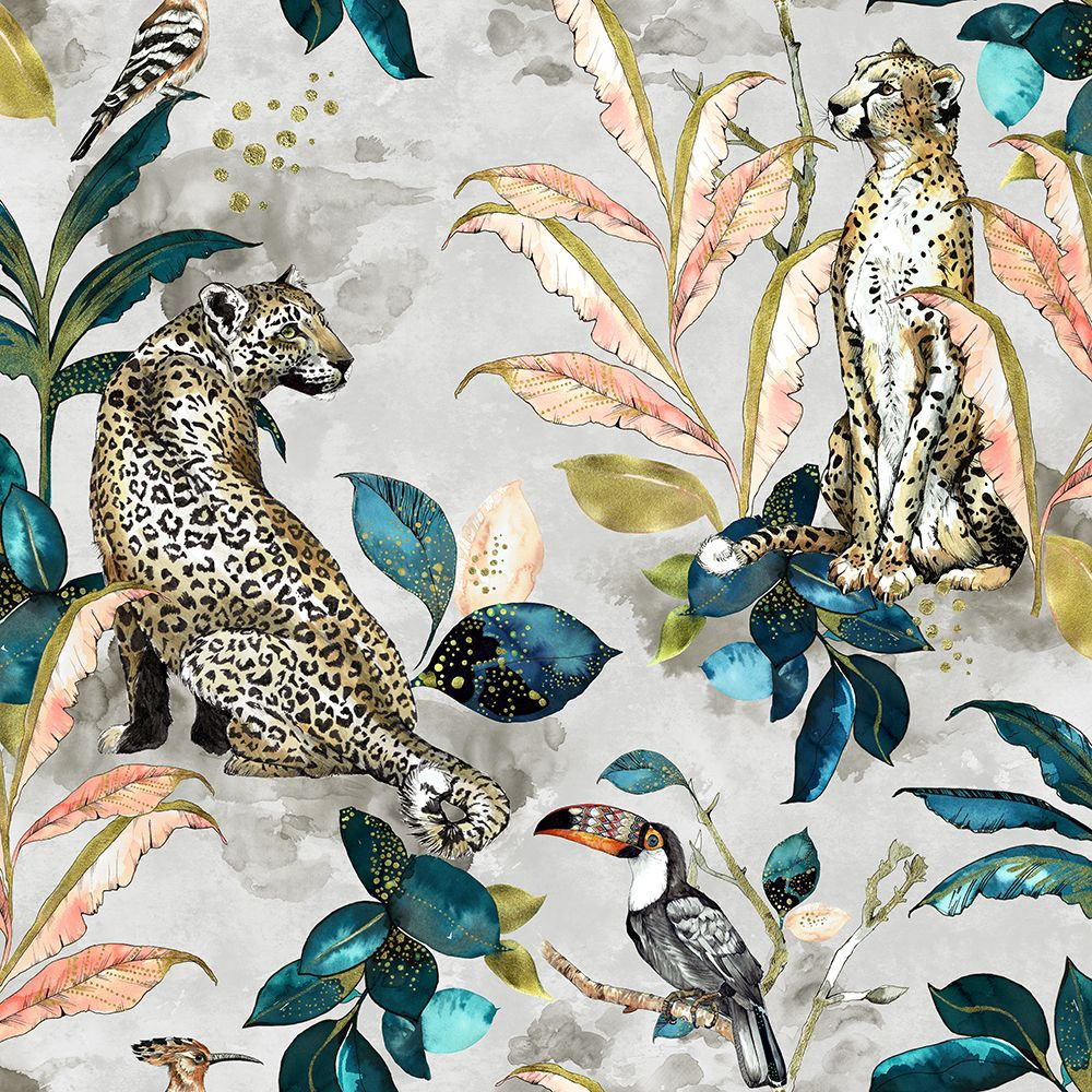 Graduate Collection Cheetah Taupe Wallpaper - Product code: LH1CHEWALTAU