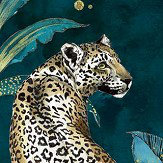 Graduate Collection Cheetah Teal Wallpaper
