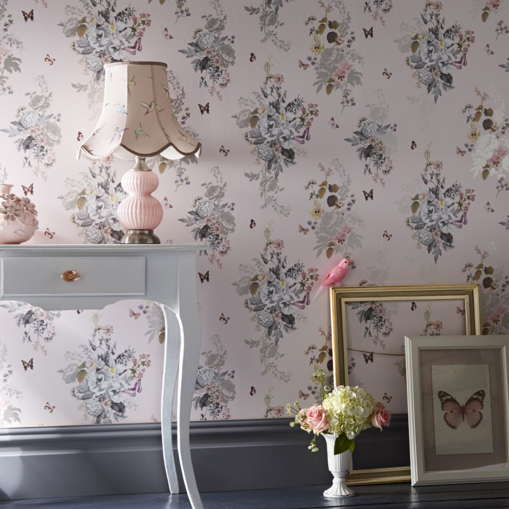 Oasis Botanical Bouquet Blush Wallpaper - Product code: W0108/01