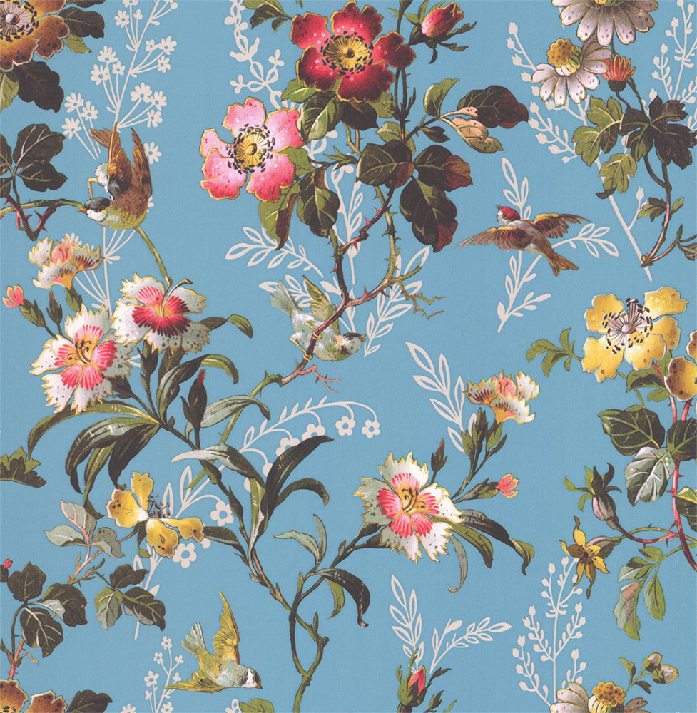 Oasis Leighton Blue Wallpaper - Product code: W0111/01