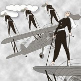 Art Decor Designs Deco Pilots Black Wallpaper