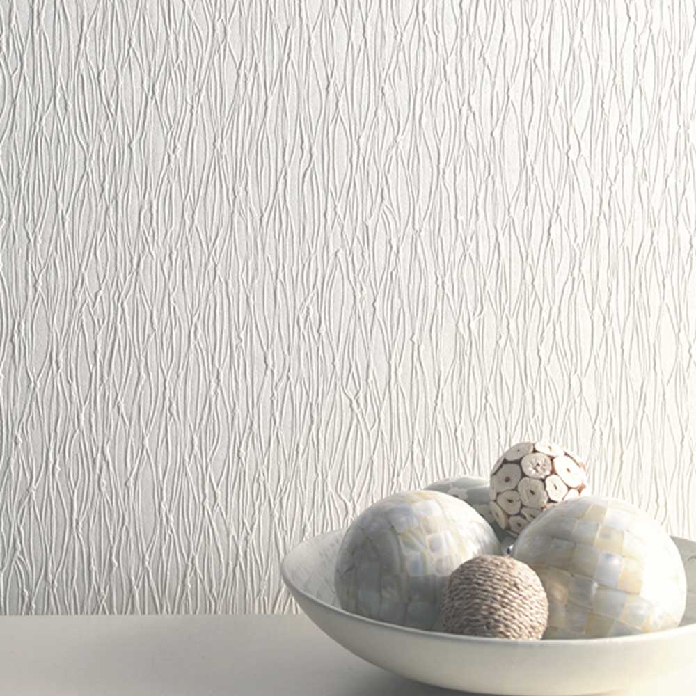 Siena Texture Wallpaper - Cotton - by Albany