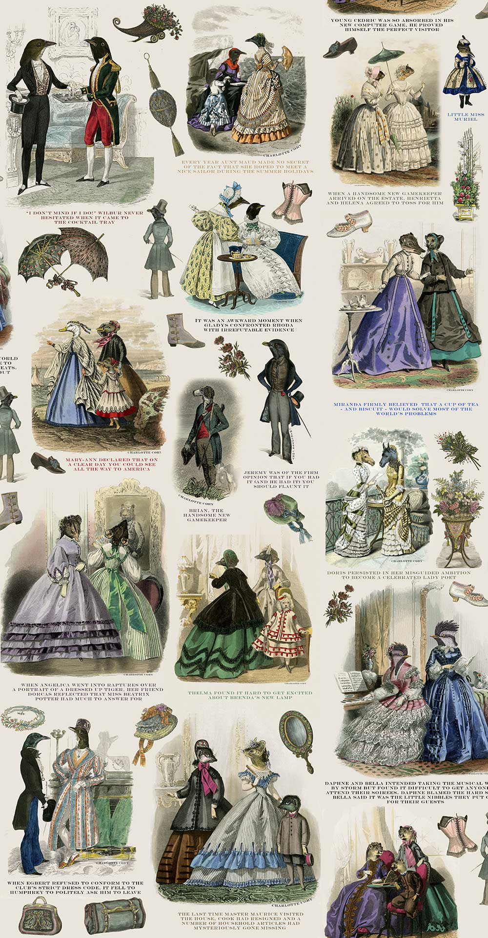Fashionista Wallpaper - Multi-coloured - by Graduate Collection