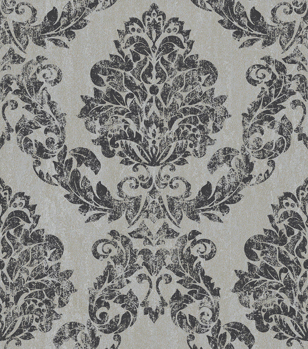 Albany Giorgio Charcoal Silver Wallpaper - Product code: 35690