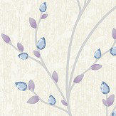 Albany Amelio Blue and Lilac Wallpaper