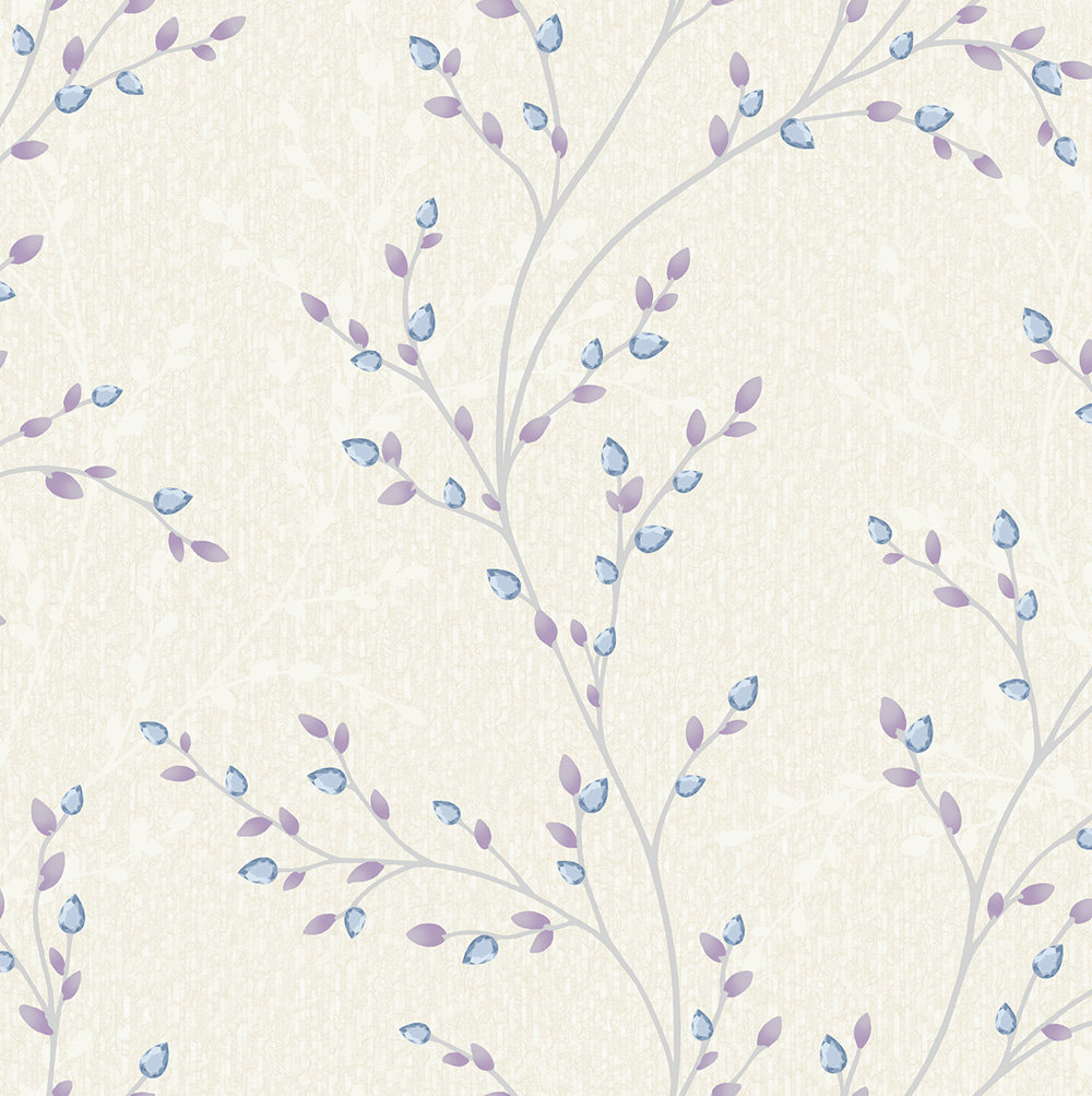 Albany Amelio Blue and Lilac Wallpaper main image