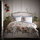 Oasis Ava Double Duvet Set Multi on White Duvet Cover