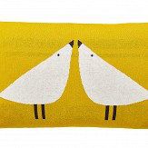 Scion Lintu Knitted Bird Cushion Dandelion