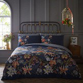 Oasis Botanical Duvet Set Deep Navy Duvet Cover