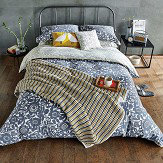 Scion Kukkia Double Duvet Cover Ink and Charcoal