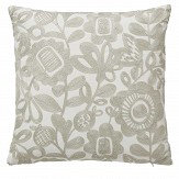 Scion Kukkia Embroidered Cushion Charcoal