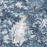 Mulberry Home Torridon Indigo Wallpaper - Product code: FG076H10