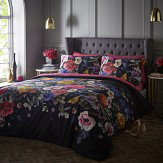 Oasis Florianna Double Duvet Set Deep Navy & Raspberry Pink Duvet Cover