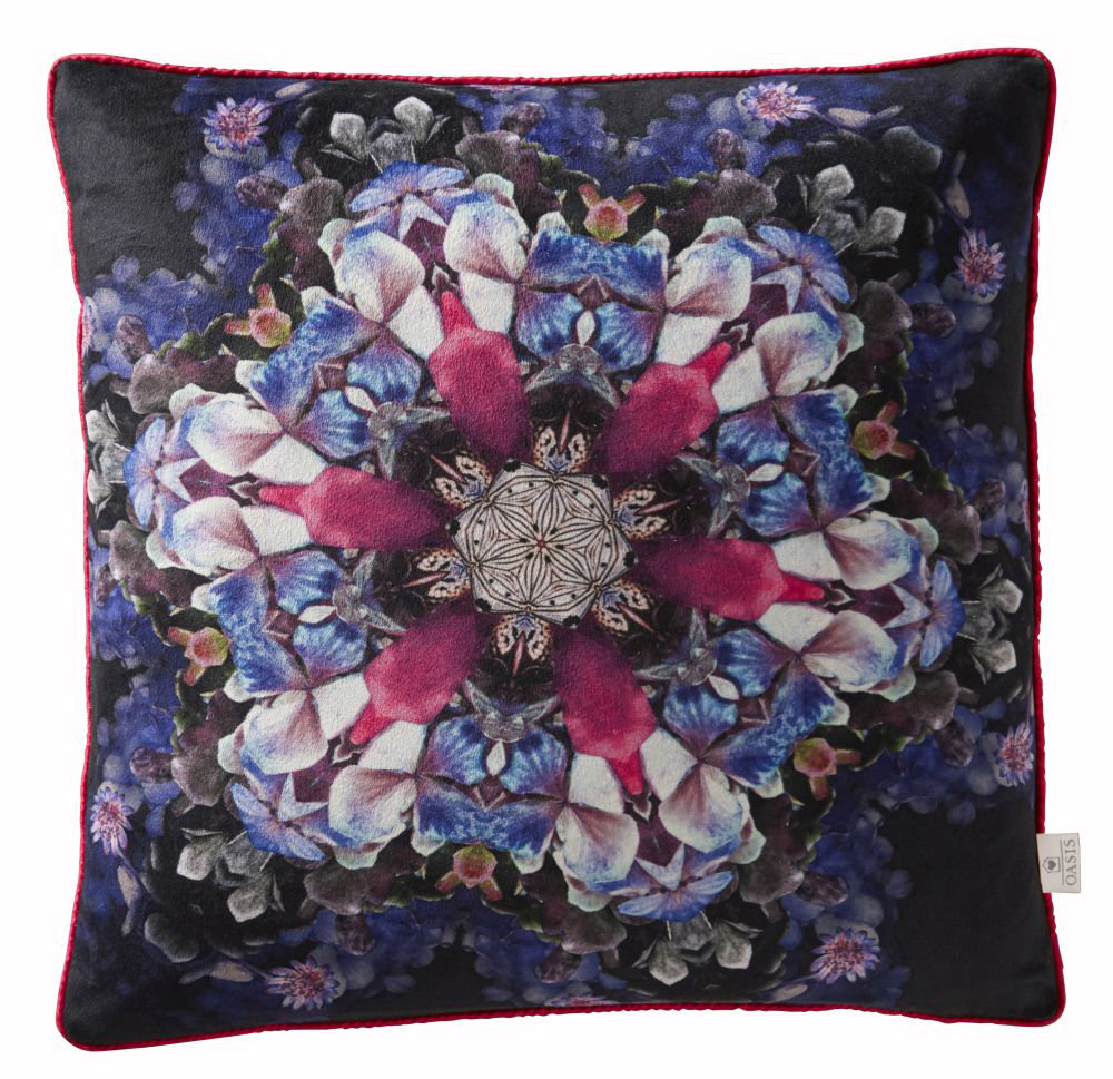 Florianna Kaleidoscope Cushion - Amethyst - by Oasis