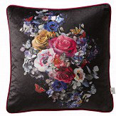 Oasis Florianna Velvet Cushion Deep Ebony