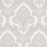 Albany Sassari Damask Opal White Wallpaper