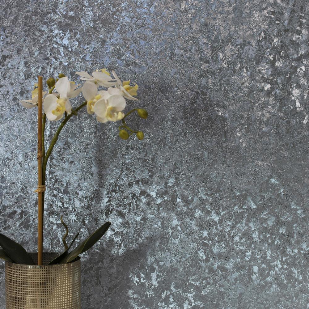 Arthouse Velvet Crush Foil Blue Wallpaper - Product code: 294303