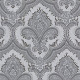 Albany Sassari Damask Silver Grey Wallpaper