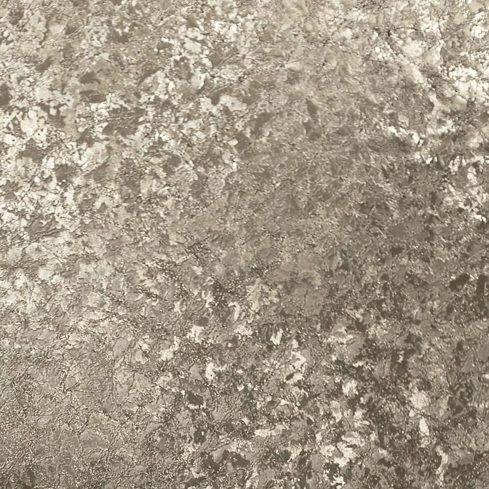 Velvet Crush Foil Wallpaper - Champagne - by Arthouse