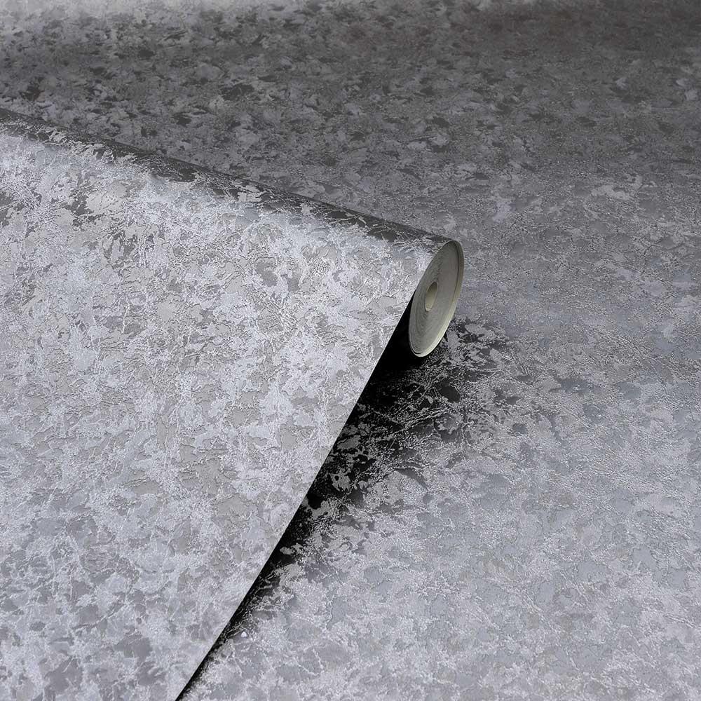 Arthouse Velvet Crush Foil Gunmetal Wallpaper - Product code: 294305