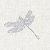 Albany Dragonfly Silver Grey Wallpaper